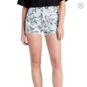 Levi's 501 High Rise Floral Embroidered Shorts